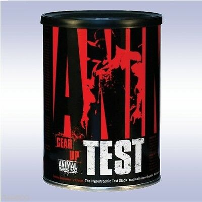 UNIVERSAL NUTRITION ANIMAL TEST (21 PCKS) booster stak pak fury meal pump whey m