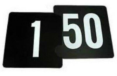 Black Plastic Table Number Set 1 - 50 Large Size 105 x 95 New