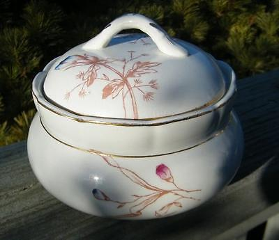 ANTIQUE CALIFORNIA IRONSTONE CHINA COVERED SERVING BOWL
