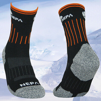 2 / 5 Pairs Lot Mens Cushioned Black Outdoor Trail Camping Trekking Hiking Socks