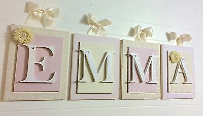 Nursery Letters, Girls letters, Baby Girl Wall Letters, Hanging Wall Letters