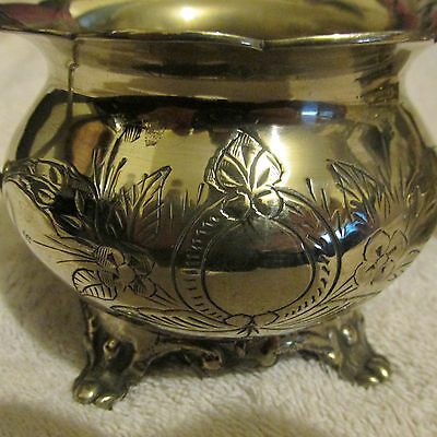 Beautfiul Vintage Silver Plate Sugar and Creamer Set 99CENTS/NR