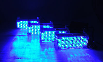 4 Pcs Waterproof Flashing Strobe Blue Lights For Front Hood Grill For Benz W203