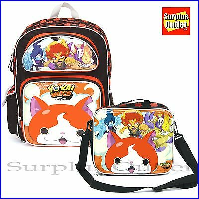 "Yokai Watch 16"" Large School Backpack Lunch Bag 2pcs Set"
