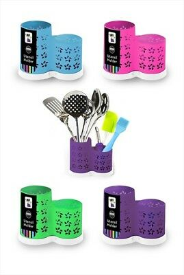 Kitchen Utensil Cutlery Holder 2 Sections Dishwasher Safe