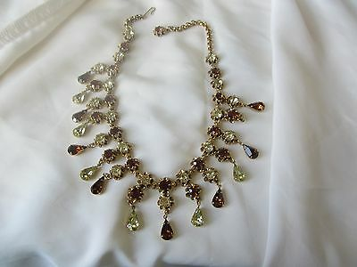 FABULOUS RUNWAY AUSTRIAN CRYSTAL RHINESTONE BIB NECKLACE