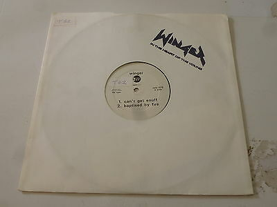 "WINGER - Can't get enuff - ? UK 4-track 12"" vinyl single DJ Promo"
