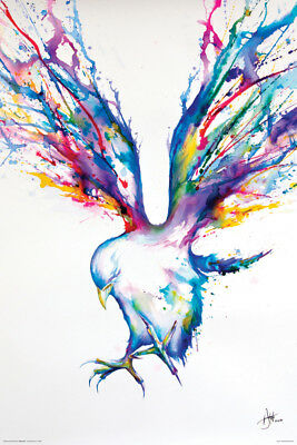 WATERCOLOR BIRD POSTER (61x91cm) ACHILLES MARC ALLANTE NEW WALL ART PRINT