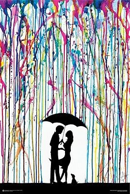 COUPLE UMBRELLA WATERCOLOR POSTER (61x91cm) TWO STEP MARC ALLANTE PRINT ART