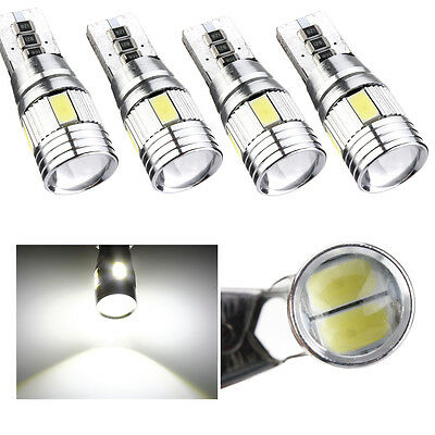 4x Xenon White CANBUS T10 W5W 501 6 SMD Error Free 5630 LED Car Side Wedge Light