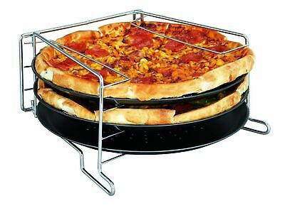 4 Piece Pizza Baking Set Serving Plate Tray Tin Oven Grill Rack Non Stick Trays