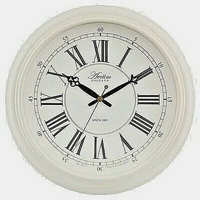 Lovely Large 45cm Vintage Style Chalk Paint Effect Wall Clock Acctim Reigham