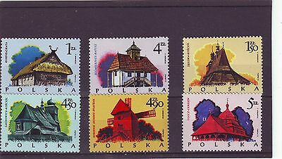 Poland - Sg2287-2292 Mnh 1974 Wooden Architecture