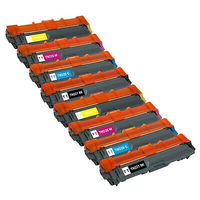 8 Pack Toner Cartridge for Brother TN221 TN225 HL-3140CW MFC-9330CDW MFC-9340CDW