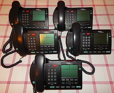 Lot of 5 Nortel Networks IP Phone 2004 NTDU92 Office Business Telephone