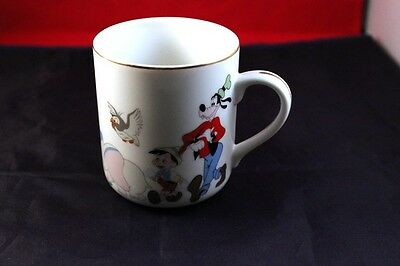 """Vintage 3.5"""" Mickey Mouse & Friends Coffee Cup Mug Disney Rare Collectible"""