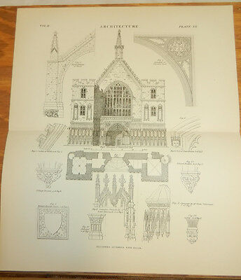 1884 Antique Print Art Prints Proposed Restoration Of Exterior Of Westminster Hall