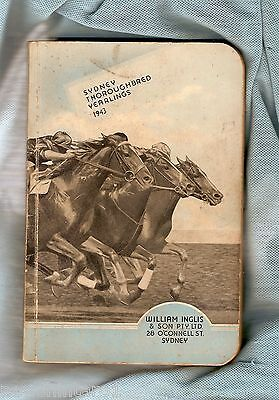 #d42.  1943  Sydney Thoroughbred Yearling  Horse Racing Auction Sales Book
