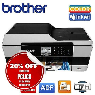 NEW Brother A3 Inkjet Multifunction Printer MFC-J6520DW /w LC133 Starter Ink Set