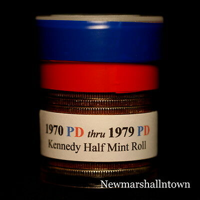 1970 1971 1972 1973 1974 1976 1977 1978 1979 P+D Kennedy Mint Roll Set  2017-1