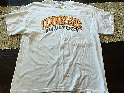 Mens Tennessee Volunteers Logo T Shirt White Sz Large L 100% Cotton