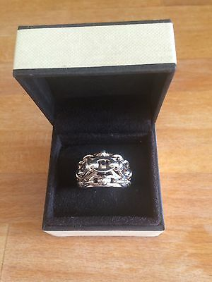 Links Of London Silver Brit Lines ring