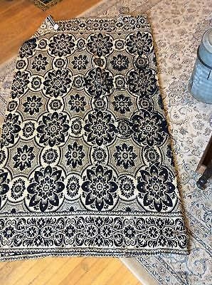early coverlet Blue White
