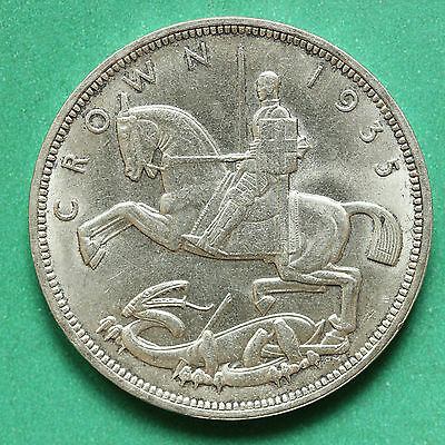 1935 - George V - Silver Crown - SNo38130