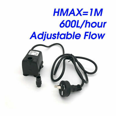 Water Pump 680Lt per hour for Hydroponics, Aquarium, Water Feature or Fountain