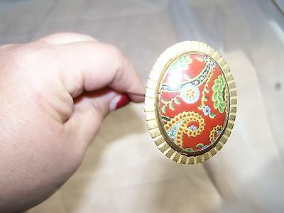 Antique Hatpin With Chintz Or China Top Very Unusual