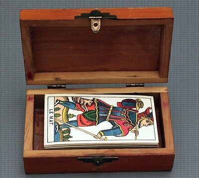 ANTIQUE 1900 SCHAFFHOUSE MARSEILLES TAROT CARD DECK - EXC