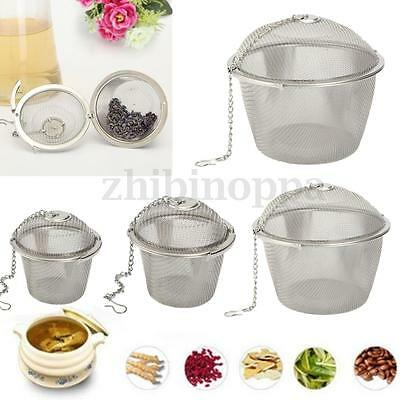Stainless Steel Tea Ball Infuser Filter Leaf Leaves Spice Herb Mesh Strainer New