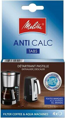 1 Pack Of 4 Filter Coffee Machine Descaling Tablets By Melitta Mel6545475