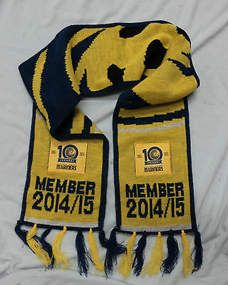 #PP. 2014/15   CENTRAL COAST MARINERS  MEMBER FOOTBALL SCARF, 10th ANNIVERSARY