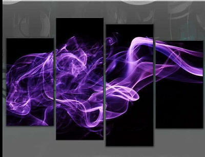 LARGE PURPLE ABSTRACT SMOKE painting (no frame)