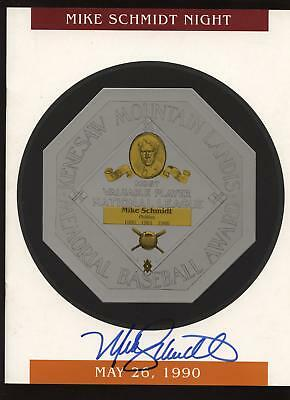 1990 Mike Schmidt Night Program Autographed B & E