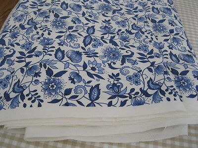 "Home Dec Quilting ~ Sewing ~ BLUE ONION - BLUE DANUBE FABRIC ~ 49.5"" X 180"""