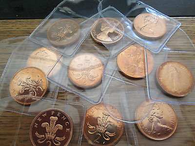 UK Proof TWO Pence 2p Mint Condition! 1970 - 2015 With Protective Wallet