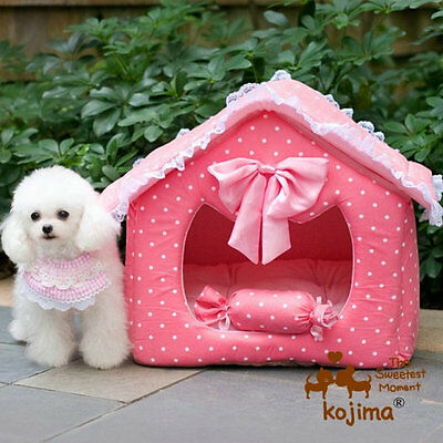 Princess Dog Bed Cat Mat Sofa House Couch Kennel Pens Cushion With Pillow Sweety