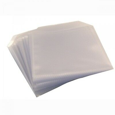100 Cd Dvd Disc Clear Cover Cases Plastic 120 Micron Sleeve Wallet