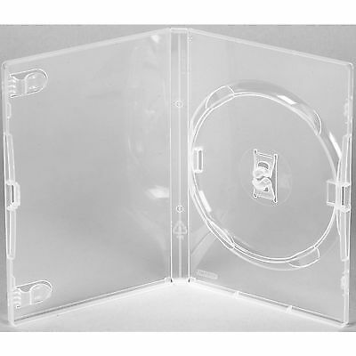 100 X Genuine Amaray Single DVD Clear Case 14mm Spine - Pack of 100