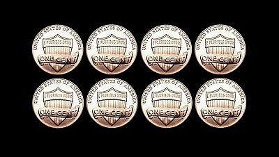 2012 2013 2014 2015 P+D Lincoln Shield Set ~ Business Mint Strike from Bank Roll