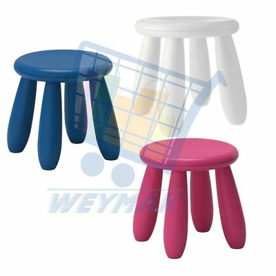 Ikea Mammut Children's plastic stool kid's pink blue white