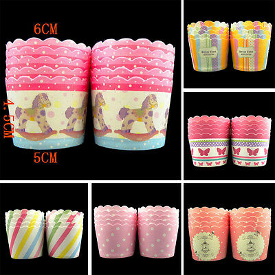 10pcs Greaseproof Muffin Cupcake Cups Paper Baking Liners Home Wedding Party