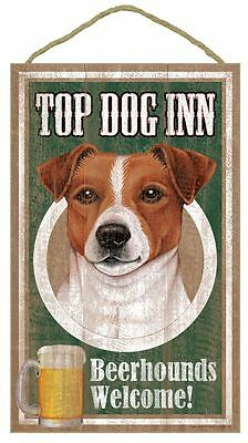 "Top Dog Inn Beerhounds Jack Russell Bar Sign Plaque dog 10""x16""  Beer"