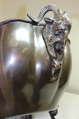 Rare Stately Gatco Solid Brass Metalware Rams Head Decor Bowl Unique
