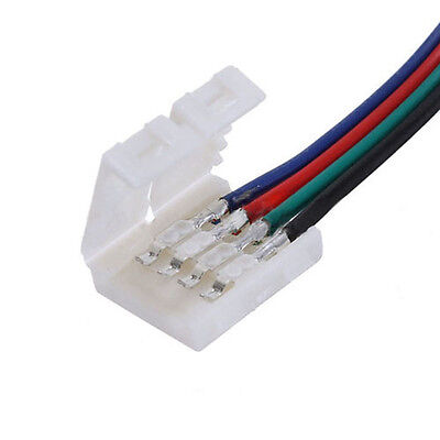 10X LED PCB Connector Adapter 4 Pin for 5050 Monocolor KL