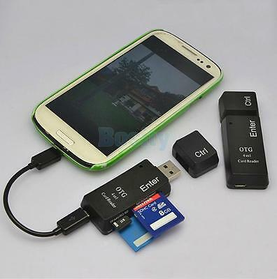 USB 2.0 MicroSD TF MM CMS M2 Memory Card Reader Writer Flash Drive w/ Cable