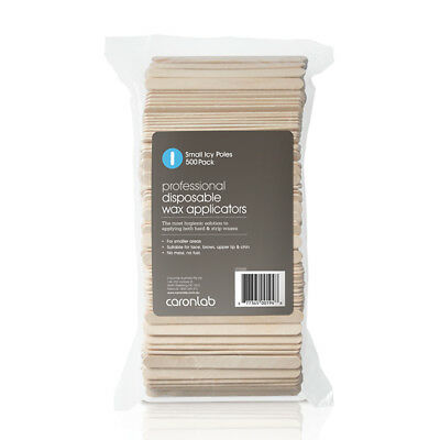 Caron Disposable Wooden Spatula Small Icy Pole 500 Pack Wax Waxing Sticks