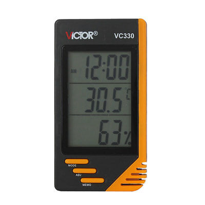 Hot VC330 LCD Digital Indoor and Outdoor Thermometer and Humidity Meter VICTOR